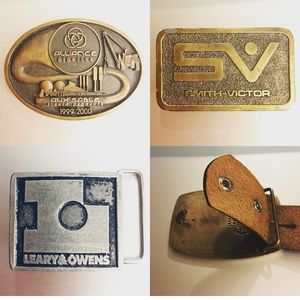 🔥Lot of 3🔥 Photography Oil Pipeline Belt Buckles